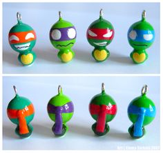 TMNT Xharms    make these into ornaments for the tree!!