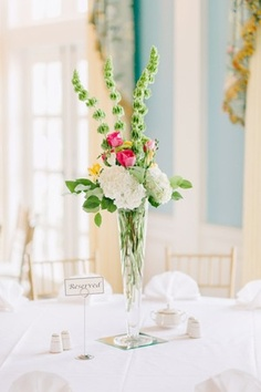 tall centerpiece, white, yellow and pink, Inspiration for Mobella Events, www.mobellaevents.com