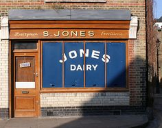 S. Jones Dairy: Ezra Street,  Shoreditch.