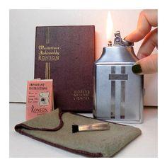 1950s Cigarette Case Lighter Combo Working by VintageTobacciana