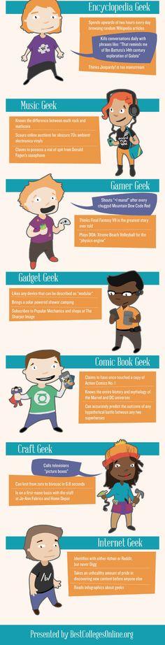 Los 16 tipos de geeks!