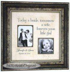 Personalized Picture Frames TODAY A BRIDE by PhotoFrameOriginals, $69.00