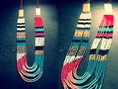great mix of colors DIY Necklace Pattern via a Bit of Sunshine