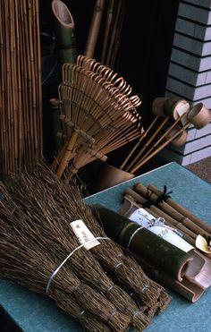 Kyoto Brooms and Rakes by lindacolsh