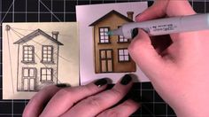 You Are My Home Card (Copic coloring) Skaduwees in te kleur