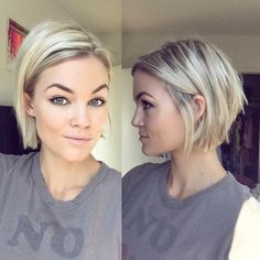 Blonde Chin-Length Bob