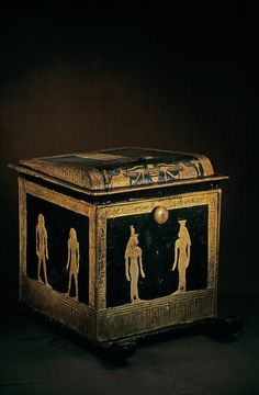 Canopic Chest of Tjuya; Valley of the Kings; KV 46,Tutankhamun and the Golden Age of the Pharaohs, P