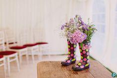 Wedding ideas, decorations for a festival themed wedding in Dorset