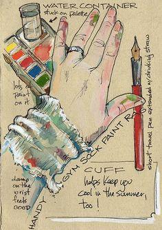 travel journal paint rag