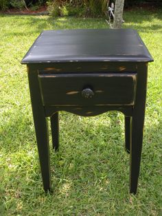 Wood End TableSide Table  Vintage Side TableVirginia by AtticJoys1, $100.00