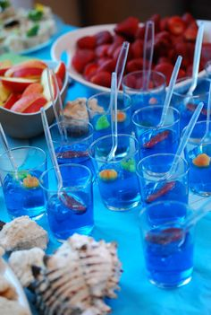 Ocean Birthday Party - jello cups