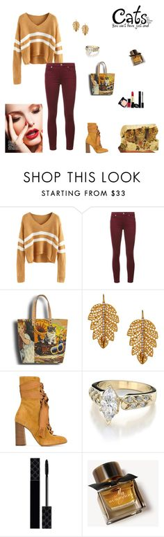 """""""Cats are like Potato Chips, You can't just have One!"""" by rboowybe ❤ liked on Polyvore featuring 7 For All Mankind, Marika, Chloé, Gucci and Burberry"""