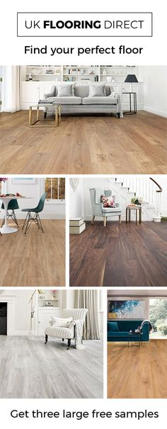 Find your floor with 3 large free samples. Modern laminate floors offer impressive authenticity while remaining a highly practical floor that is incredibly easy to care for. Interior Paint Colors For Living Room, Living Room Paint, Home Living Room, Room Interior, Living Room Decor, Diy Kitchen Flooring, Living Room Flooring, Diy Flooring, Bedroom Flooring