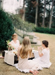 Maidens for Once Wed // Photography:Rylee Hitchner//Styling & Design:Ginny Au//Flowers:Cloth of Gold//Bridal Gown:Finery Boutique//Calligraphy:Holly Hollon//Props & Furniture:Blue Eyed Yonder// Hair & Makeup:Amanda Paige// Bridesmaids Gowns:Nordstroms// Outdoor Venue:The Swan House