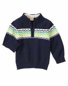 NWT Gymboree Boys Long Sleeve Sweater Navy Pullover Size 10-12