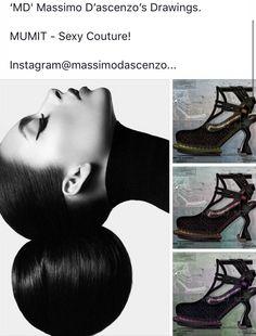 'MD' Massimo D'ascenzo Beautiful Designs. MUMIT FOOTWEAR BY Massimo D'ascenzo.  MUMIT - Sexy Couture!  Instagram@massimodascenzo  www.massimod.com  #luxury#jewellery#handbags#love#fashionAddict#luxuryDesigns.  https://www.facebook.com/pages/ Massimo-Dascenzo-Luxury-Jewellery-Handbags/485052561622939?ref=hl