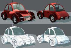 Cartoon Car 02 | 3D model 3d Assets, 3d Projects, 3d Animation, 3d Printing, Cartoon, Game, Model, Engineer Cartoon, Mathematical Model