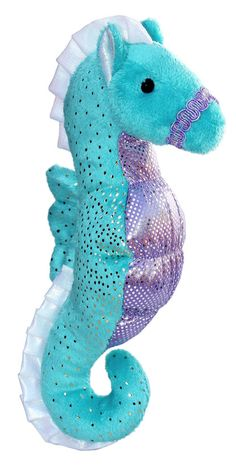 "8"" STAR SEAHORSE is a pretty sparkle Sea Horse in turquoise and purple. Makes a…"