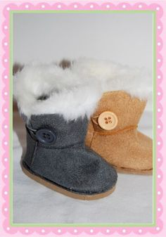 AG Doll Sized Suede Button Boots--want to learn how to make boots and shoes