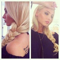 Loosy Goosy Braided #HairStyle  #hairdo #braid #longhair #blonde - bellashoot.com