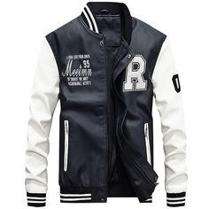 1805585168b Men s Pilot Bomber Flight Jacket Varsity Letterman Winter College Faux Fur  Coats Waterproof Baseball Softshell Heated Jacket Red