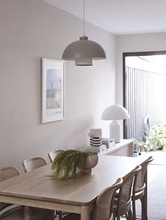 At Home with Designer Cushla McFadden Atollo Lamp, Steel Balustrade, Mark Henry, Bentwood Chairs, Step Inside, Minimalist Interior, Beautiful Space, One Bedroom, Soft Furnishings