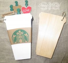 My GJS coffee cup to go mini Starbucks album.. i love how it turned out.. all starbucks products inside.