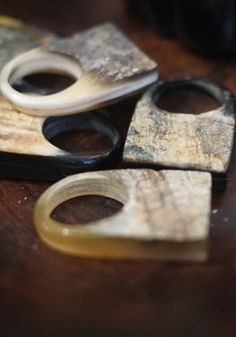 Haitian horn rings - gotto b brave gal .. sexy piece :)