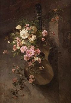 Frans David Oerder, Still Life with Guitar and Roses, late 19th - early 20th century