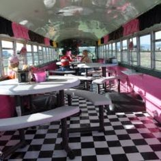 flamingo grill, bus conversion, townsend, mt