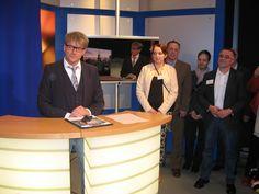 TVO-Geschäftsführer Norbert Kießling beim Empfang der Gäste aus Bamberg.