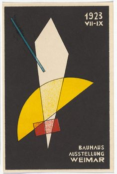 Laszlo Moholy-Nagy. Bauhaus Ausstellung Weimar Juli–Sept, 1923, Karte 7. 1923. Lithograph, 5 7/8 × 3 15/16″ (15 × 10 cm). Committee on Architecture and Design Funds. Photo: John Wronn