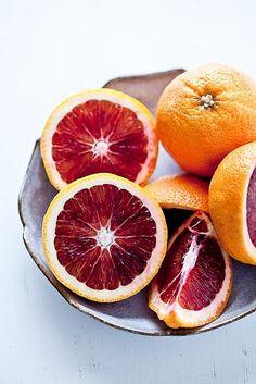 Blood Oranges, my FAVORITE orange!!  very sweet, and juicy... flickr.com