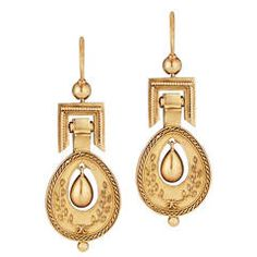 Victorian Etruscan Gold Earrings