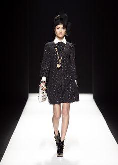 Moschino Fall/Winter 2012-2013 - dress, clutch