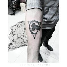 http://instagram.com/karincatattoo #triangletattoo #design #tattoo #tattooed #minimal #armtattoo #smalltattoo #inked #ink #eagletattoo #blackink #dövme