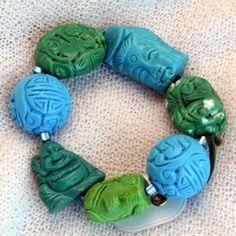 armband_01_010 Turquoise Bracelet, Bracelets, Jewelry, Semi Precious Beads, Handmade, Wristlets, Schmuck, Gifts, Jewlery