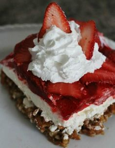 Strawberry Pretzel Jello Salad... 2 cups crushed pretzels (I used the checker shaped ones but you can also use sticks) 3/4 cup butter melted 3 Tbsp. sugar 16 oz. cream cheese softened 1 1/2 cups su...