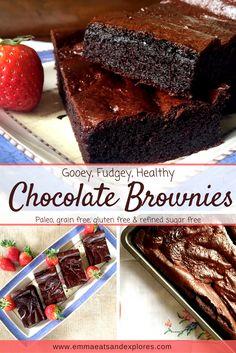 Healthy Chocolate Brownies by Emma Eats & Explores - Grainfree, Glutenfree, Dairyfree, Refined Sugarfree, Paleo & Vegetarian