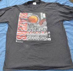 Vintage 1992 Portland Trailblazers NBA Finals Western Conference Champions  Blazers T-Shirt Size X Large ba4bdde91