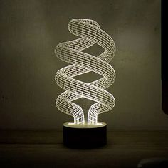 Look what I found at UncommonGoods: Spiral Bulb LED Lamp for $120.00