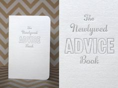 Your place to buy and sell all things handmade Newlywed Advice, Advice For Newlyweds, Wedding Events, Wedding Ideas, Advice Cards, Guestbook, Event Ideas, Letterpress, Bridal Shower