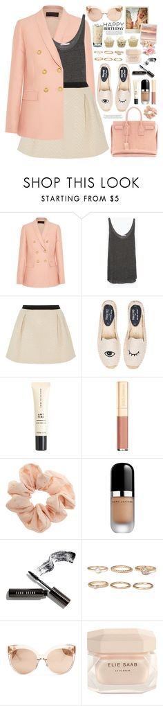 """2290. Nothing makes a woman more beautiful than the belief that she is beautiful. ~ Sophia Loren"" by chocolatepumma ❤ liked on Polyvore featuring Elle Macpherson Intimates, J.Crew, Zara, DKNY, Soludos, Yves Saint Laurent, Dolce&Gabbana, Topshop, Marc Jacobs and Bobbi Brown Cosmetics"