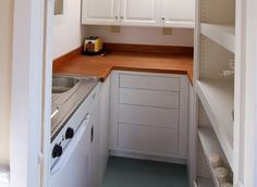 Why The Small House Movement Works...tiny kitchen layout example.