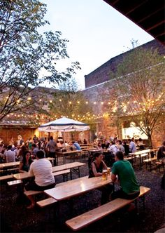 I. LOVE. THIS. PLACE.  Frankford Hall, Philly!  It's a German bier garten!  Mmmm!