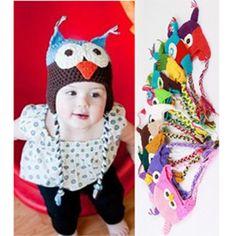 Fashion Unisex Toddler Baby Cute Owls Animal Crochet