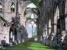 Tintern Abbey, Monmouthshire, Wales. Inspiration for some lovely romantic poetry and paintings.