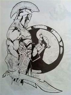 Spartan Warrior Drawings Spartan warrior by sampleyb
