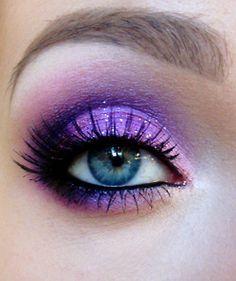 #makeup  purple glitter eyeshadow