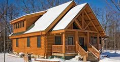 This Log House Uses an Innovation That Makes the Walls Airtight (Click for Floor Plan)